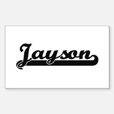 Jayson Classic Retro Name Design Decal