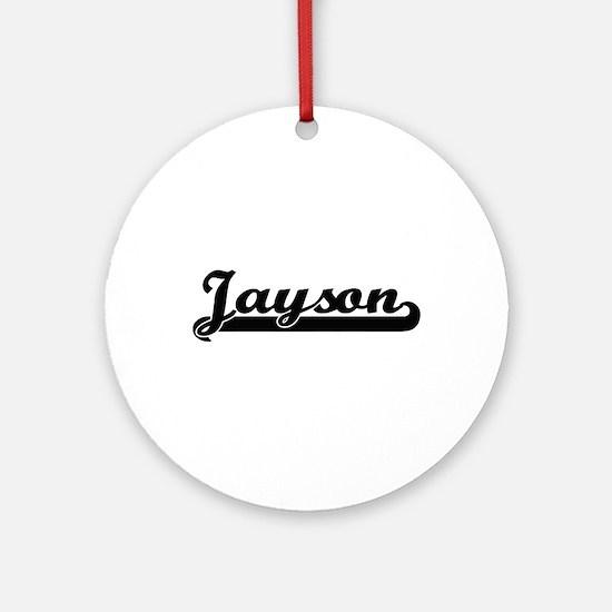 Jayson Classic Retro Name Design Ornament (Round)