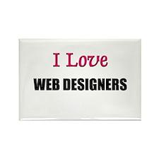 I Love WEB DESIGNERS Rectangle Magnet