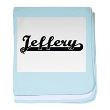 Jeffery Classic Retro Name Design baby blanket