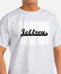 Jeffrey Classic Retro Name Design T-Shirt