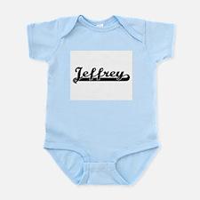 Jeffrey Classic Retro Name Design Body Suit