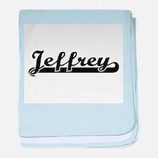 Jeffrey Classic Retro Name Design baby blanket