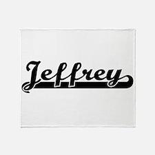 Jeffrey Classic Retro Name Design Throw Blanket