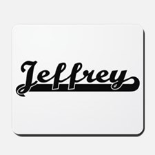 Jeffrey Classic Retro Name Design Mousepad