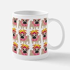 Cute Pug with Pink and Yellow WIg Mug