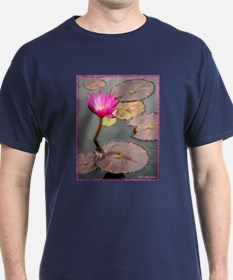 waterlily pad, floral photo T-Shirt