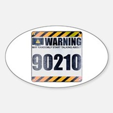 Warning: 90210 Oval Decal