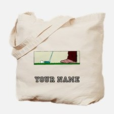 Golf Putt (Add Name) Tote Bag