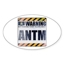 Warning: ANTM Oval Sticker (50 pack)