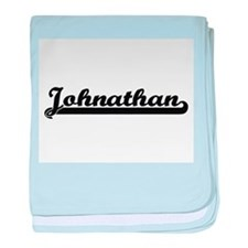 Johnathan Classic Retro Name Design baby blanket