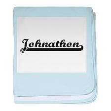 Johnathon Classic Retro Name Design baby blanket