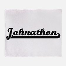 Johnathon Classic Retro Name Design Throw Blanket