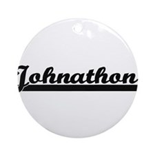 Johnathon Classic Retro Name Desi Ornament (Round)