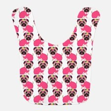 Pug in Pink Bib