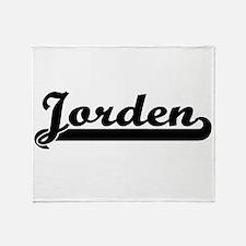 Jorden Classic Retro Name Design Throw Blanket