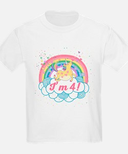 4th Birthday Unicorn T-Shirt