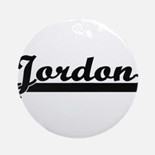 Jordon Classic Retro Name Design Ornament (Round)