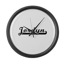 Jordyn Classic Retro Name Design Large Wall Clock
