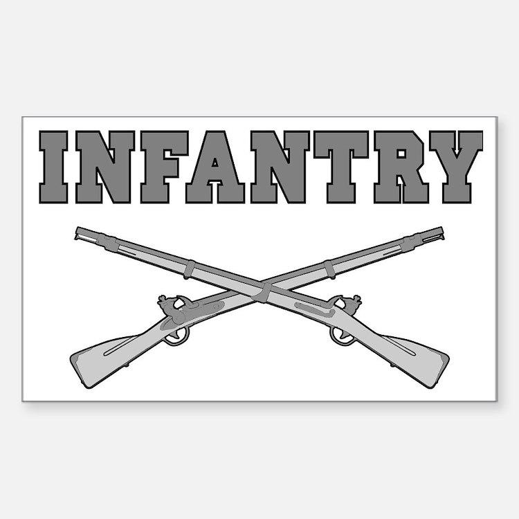 INFANTRY CROSSED RIFLES Sticker (Rectangle)