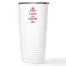 Keep Calm and Carter ON Travel Mug