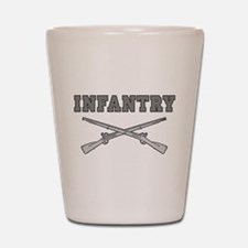 INFANTRY CROSSED RIFLES Shot Glass