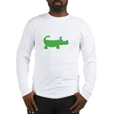 Preppy Green Alligator Long Sleeve T-Shirt