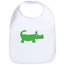 Preppy Green Alligator Bib