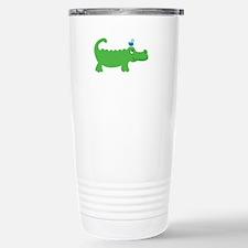 Preppy Green Alligator Travel Mug