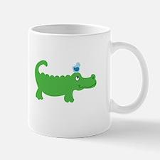 Preppy Green Alligator Mugs
