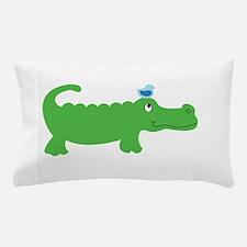 Preppy Green Alligator Pillow Case