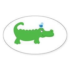 Preppy Green Alligator Decal