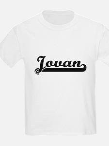 Jovan Classic Retro Name Design T-Shirt