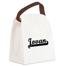 Jovan Classic Retro Name Design Canvas Lunch Bag