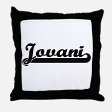 Jovani Classic Retro Name Design Throw Pillow