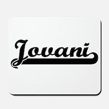 Jovani Classic Retro Name Design Mousepad