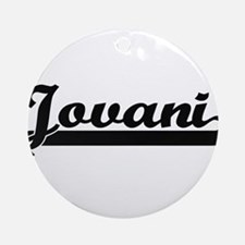 Jovani Classic Retro Name Design Ornament (Round)