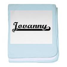 Jovanny Classic Retro Name Design baby blanket