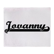 Jovanny Classic Retro Name Design Throw Blanket
