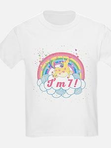 7th Birthday Unicorn T-Shirt