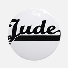 Jude Classic Retro Name Design Ornament (Round)