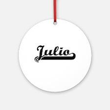Julio Classic Retro Name Design Ornament (Round)