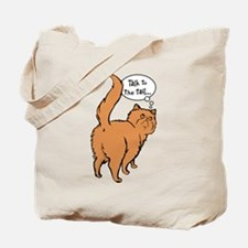 Red Persian Tail Talk Tote Bag