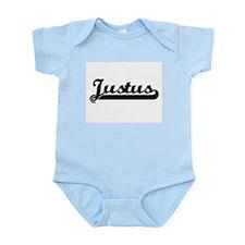 Justus Classic Retro Name Design Body Suit