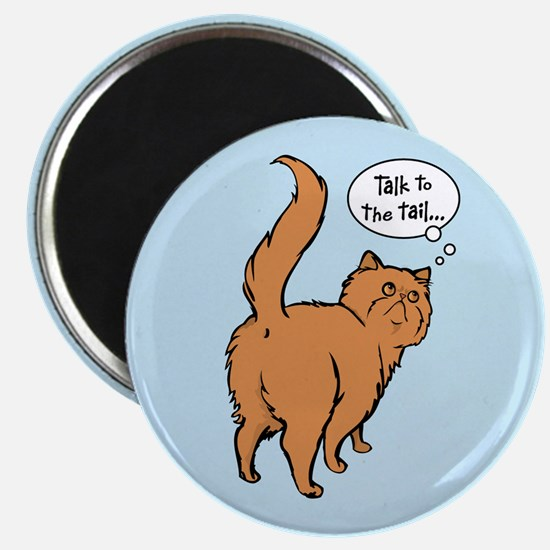 Red Persian Tail Talk Magnet
