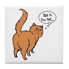 Red Persian Tail Talk Tile Coaster