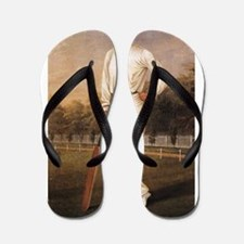 cricket art Flip Flops