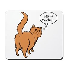 Red Persian Tail Talk Mousepad