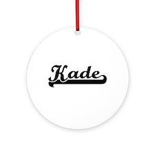 Kade Classic Retro Name Design Ornament (Round)