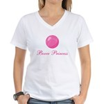 Bocce Princess Women's V-Neck T-Shirt
